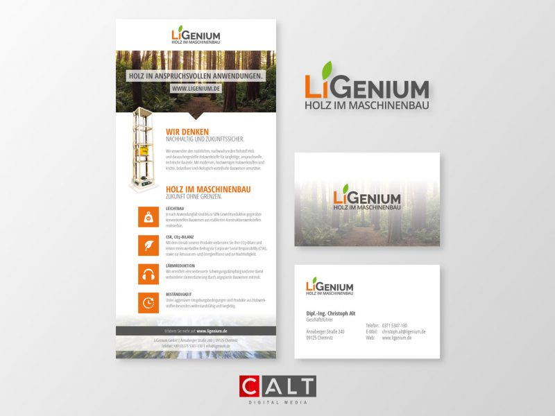 Corporate Design für LiGenium GmbH