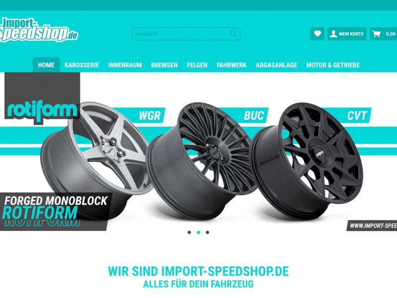 Neuer Onlineshop für Import-Speedshop.de (im Aufbau)