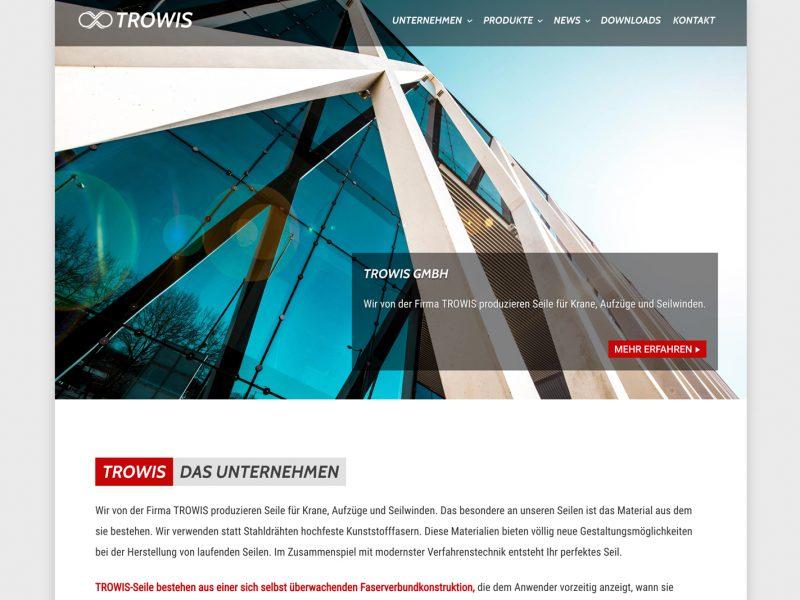 Neue Website für TROWIS GmbH (im Aufbau)