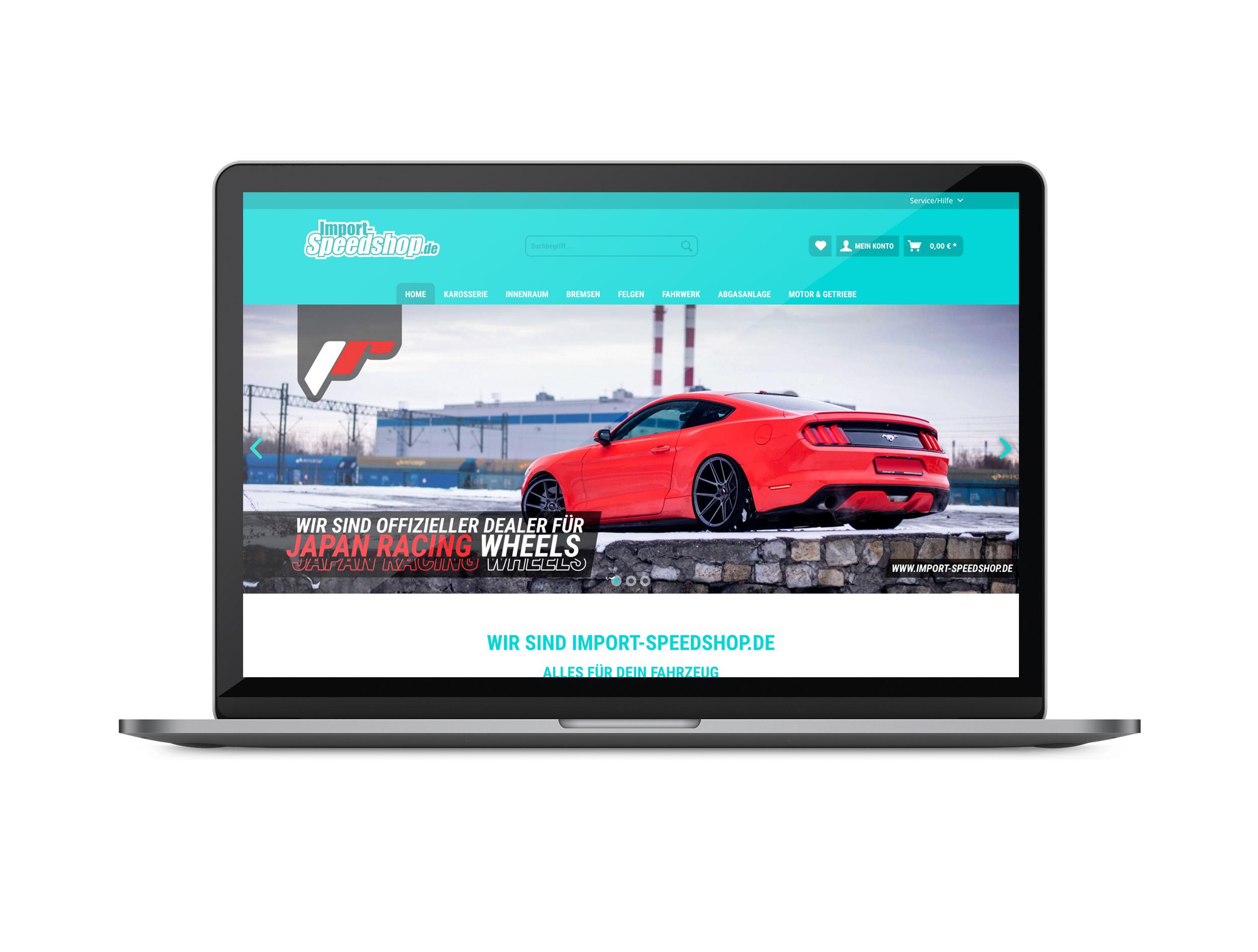 Neuer Onlineshop für Import-Speedshop.de