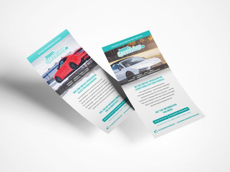 Werbeflyer für Import-Speedshop.de