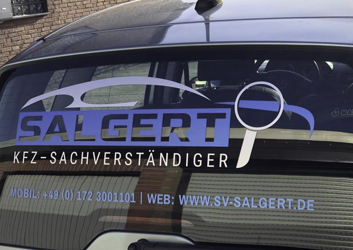 Heckscheibenaufkleber für SALGERT Sachverständiger