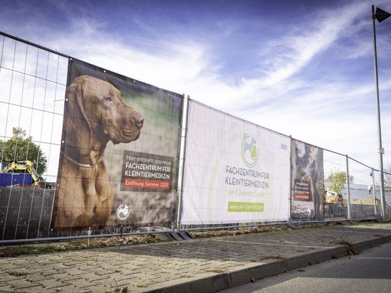 Baustellenbanner für VET-Chemnitz!