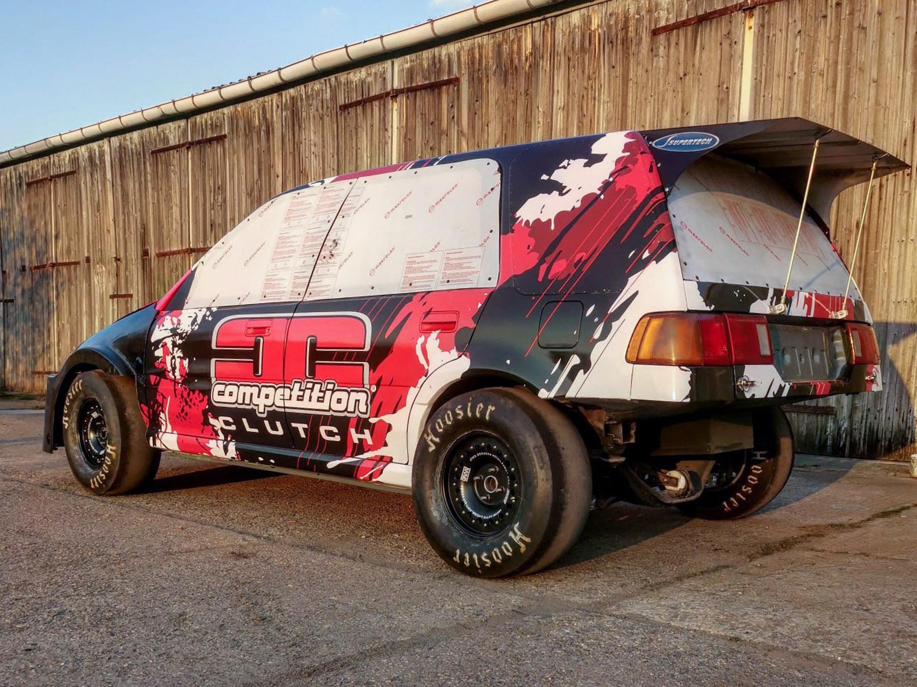 Folierung für Competition Clutch Dragwagen